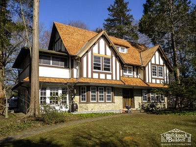 Re-roof with Wood Shakes by Brecknock Builders