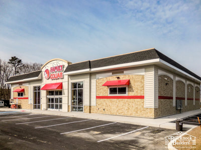 Family Dollar with Steel Erection by Brecknock Builders