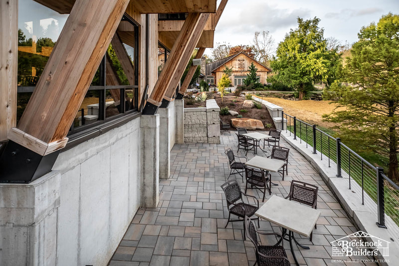 The Amazing Glassbern Inn Event Venue built entirely by the timber-framing experts at Brecknock Builders