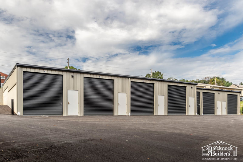 Pre-engineered Steel Mini Storage Facility built by Brecknock Builders in Lancaster County, Pennsylvania.