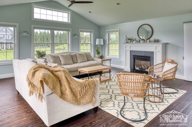 Sunroom addition by Brecknock Builders