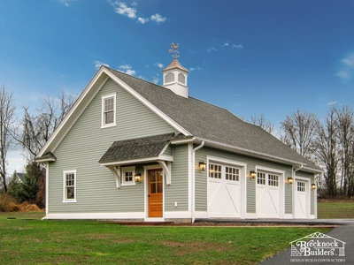 3-bay Custom Garage with Cupola by Brecknock Builders